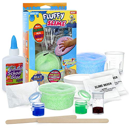 DmHirmg Slime Kit,DIY Slime Making Kit for Girls and Boys,Original Make Your Own Slime with Glue,Activator,Coloring for Best Chiristmas Gifts