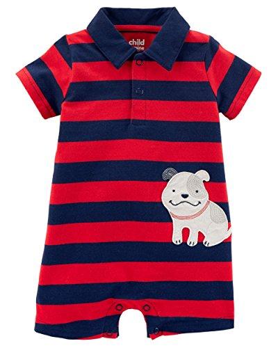 Child of Mine Baby Boy One Piece Polo Romper 12 Months ()