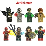 Justice League Dc Super Heroes 8 Pieces Play Set Mini Action Figures Wonder Woman,Batman,Cyborg,Green Lantern,Aquaman The Flash And