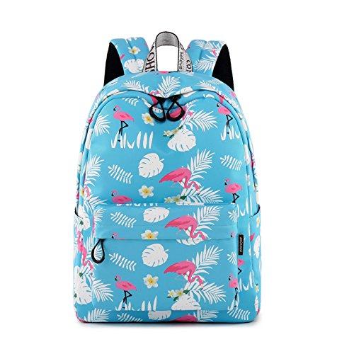 (Teecho Waterproof Roomy Cute School Backpack for Girl Women 15.6