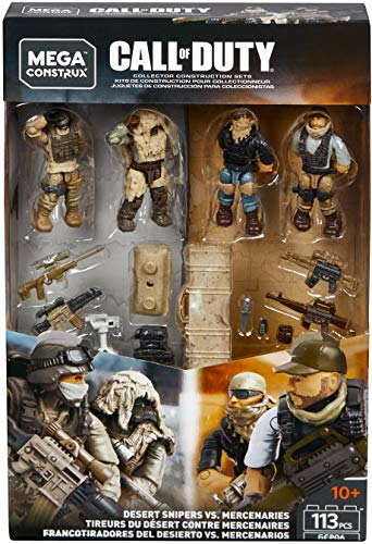 Mega Construx Call of Duty Desert Snipers Vs. Mercenaries (Ghost Action Figure)