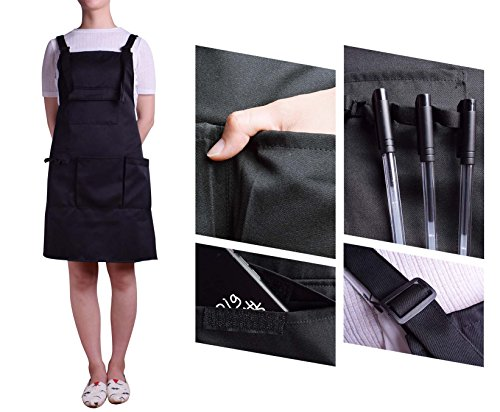 Nanxson Fashion Women Multi Function Working Work Apron with Tool Pockets CF3010 Black by Nanxson (Image #4)