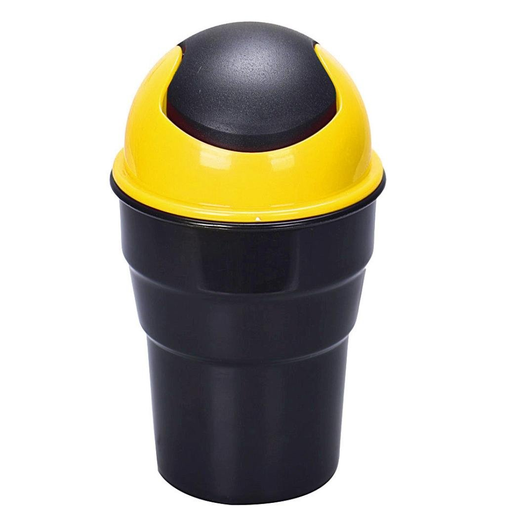 Black Copapa Office Home and Vehicle Car Auto Garbage Trash Can