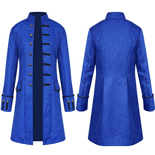 Elefan Cornelia Underwear Men's Blue Steakpunk Jacket Goth Clothing Costume Frock Coat for Victorian Halloween Party]()
