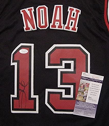 ... Joakim Noah Chicago Bulls Autographed Black 13 Jersey JSA COA at  Amazons Sports Collectibles Store ... 971771a2f