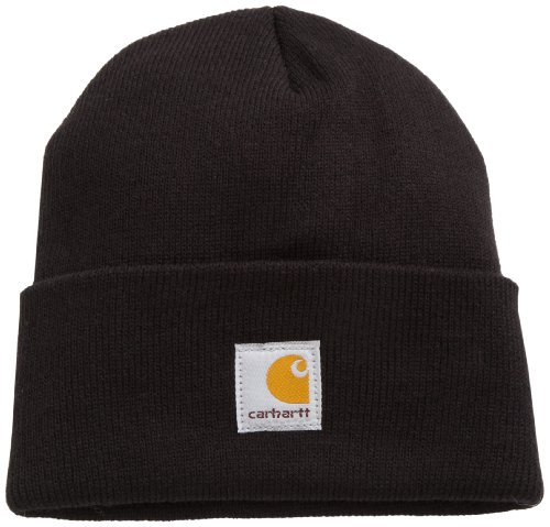 (Carhartt Youth Big Boys' Acrylic Watch Hat, Caviar Black, One Size)