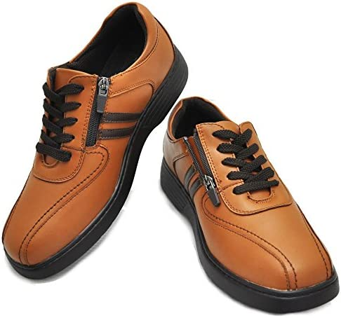EURO GOLF ウォーキングシューズ/紐靴/ファスナー付/軽量/No98681 キャメル 26.0cm