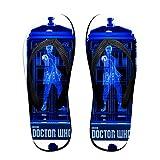 Colorful Footprint Doctor Who Crystalline TARDIS Comfortable Men Women Summer Beach Sandals Shower