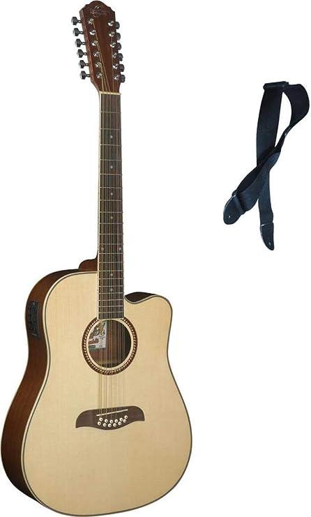 Oscar Schmidt de 12 cuerdas guitarra acústica/eléctrica w/libre ...