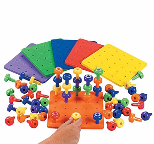 Stack It Peg Game With Board Occupational Therapy Autism Motor Skills from CusCus