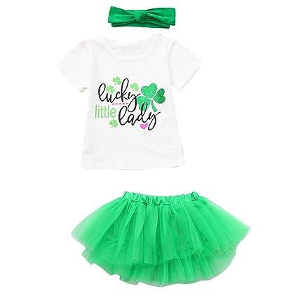 3165819c05addc Amazon.com  ❤ Mealeaf ❤ Toddler Baby Girls Short Sleeve St ...