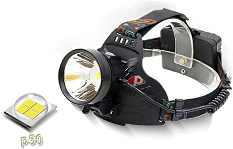 ZED- Frontal Recargable LED Alta Potencia, Linterna Cabeza con 3 ...