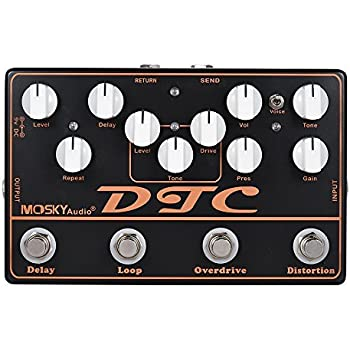 ammoon mosky dtc 4 in 1 electric guitar effects pedal distortion overdrive loop. Black Bedroom Furniture Sets. Home Design Ideas