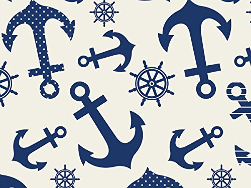 Design Printed Tissue Paper for Gift Wrapping 24 Decorative Sheets 20'' X 30'' (Nautical Anchors) by GBBD