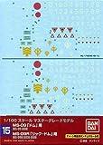 #15 Gundam Decal - Dom, Rick-Dom 1/100 MG Waterslide Decals [Toy] by Gunpla