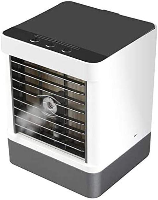 QIYUE Acondicionador de aire del ventilador, Zona Espacial ventilador enfriador de aire de escritorio pequeño personal Ventilador de mesa Personal evaporativo de aire de circulación más fresco humidif