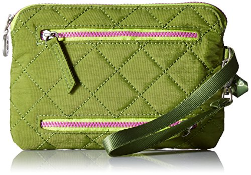 - Baggallini Women's RFID Currency & Passport Organizer, green/kiwi, One Size