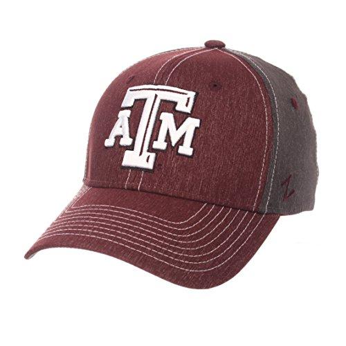 Zephyr NCAA Texas A&M Aggies Men's Dusk Hat, Medium/Large, Team Color/Dark Grey