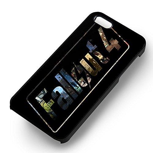 Fallout 4 Poster pour Coque Iphone 6 et Coque Iphone 6s Case (Noir Boîtier en plastique dur) T9D0EB