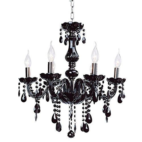 eshion Classic Vintage Crystal Candle Chandeliers Lighting 6 Lights Pendant Ceiling Fixture Lamp for Elegant Decoration - Bay Hudson Glasses