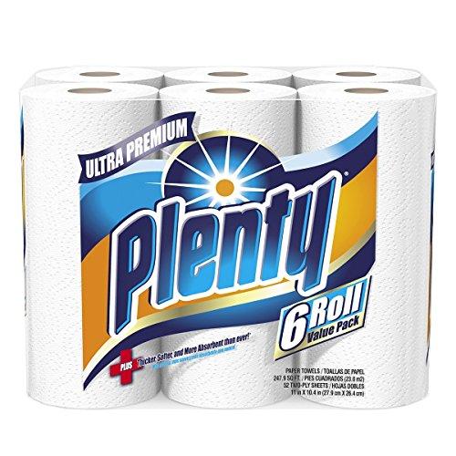 Plenty Ultra Premium Full Sheet Paper Towels, White
