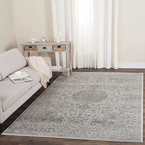 Safavieh Carnegie Collection CNG631K Vintage Cream and Dark Grey Distressed Area Rug (5'1