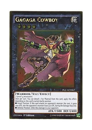 PGL3-EN067 Gagaga Cowboy Gold Rare 1st edition Yu-Gi-Oh