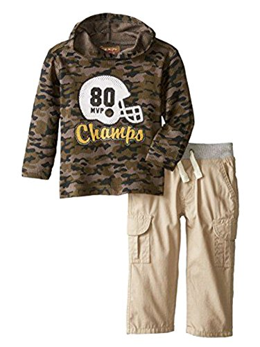 Kids Headquarters Infant Boys 2P Football Champ Thermal Camo Hoodie & Pants - Champ Thermal Sweatshirt