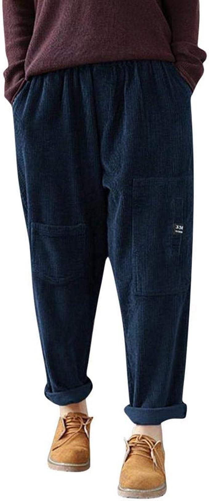 Tasty Life Pantalones Casuales De Mujer, Pantalones De Pana ...