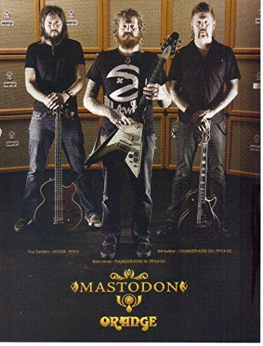 Magazine Print Ad: Brent Hinds, Troy Sanders, Bill Kelliher, Mastodon for Orange Thunderverb 50-200 Amps