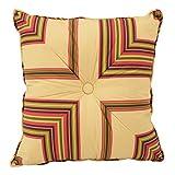 WAVERLY 15067016X016COR Cordial Tufted Decorative Accessory Pillow, 16'' x 16'', Multicolor