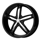 350z stock rims - Helo HE844 Gloss Black Wheel With Removable Chrome Accents (18x8