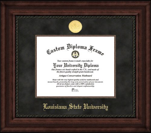 - Campus Images LA999EXM Louisiana State University Executive Diploma Frame, 8.5