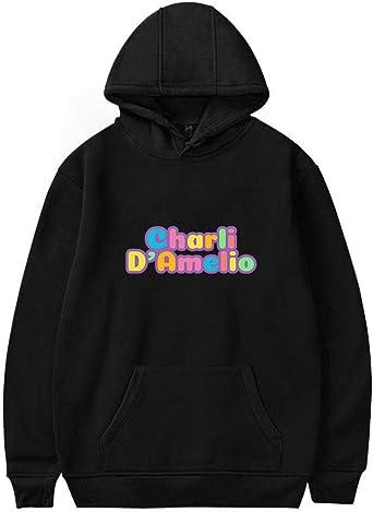 Bluza damska The Hype House Pullover Charli D'Amelio Print Hoodie Hip Hop bluza z długim rękawem Casual Tops: Odzież