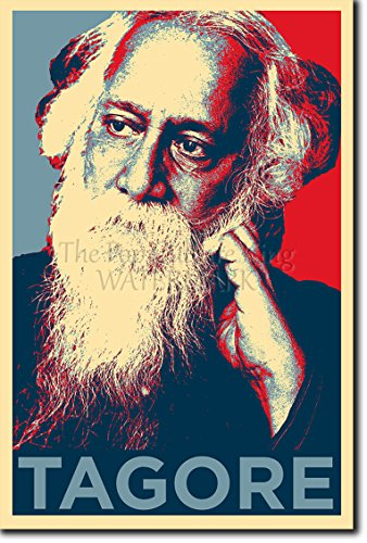 Rabindranath Tagore Art Print 'Hope' Photographic Poster - Unique Gift Fras Rav?ndran?tha Th?kura Bengali