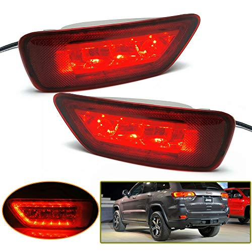 Heinmo Rear Right Side Marker Bumper Reflector Fog Lamp Cover Corner Parking Light Lens Compatible For Jeep Compass Grand Cherokee 2011 to 2018 ()