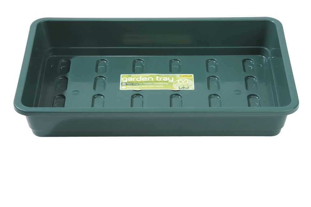 Garland Full Size Standard Seed Tray, no drainage holes, 38cm, green GAL52FNG1