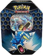 Pokemon SM11.5 Hidden Fates Gx Tin- Gyardos + 1 of 3 Foil Pokémon-GX Cards + 4 Booster Pack
