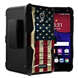Untouchble Case for Alcatel Allura | Alcatel Fierce 4 | Alcatel Pop 4 Plus case [Heavy Duty Clip]- Shockproof Swivel Holster Case with Built in Kickstand – Vintage America Flag For Sale