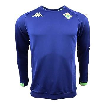 Sudadera de entrenamiento - Real Betis Balompié 2018/2019 - Kappa Aldren 2 Sweat - Azul - M: Amazon.es: Deportes y aire libre