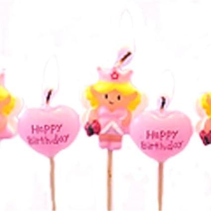 Amazon.com: Princesa de hadas velas de cumpleaños – pack de ...