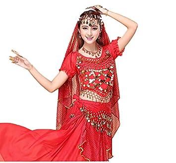 Danza del Vientre Xinjiang Danza Traje Conjunto Indio Danza ...