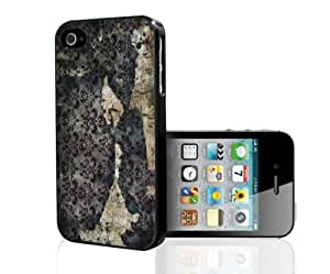 Torn and Ripped Vintage Floral Background Hard Snap on Phone Case (iPhone 4/4s)