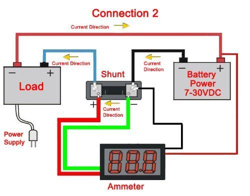 51JOzO0FWoL amazon com beesclover 0 100v a digital dc va amp volt ammeter dc ammeter shunt wiring diagram at virtualis.co