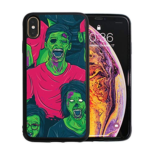 (Frightened Creepy Zombie iPhone Xs Max Case Screen Protector TPU Hard Cover with Thin Shockproof Bumper Protective Case for Apple iPhone Xs Max 6.5)