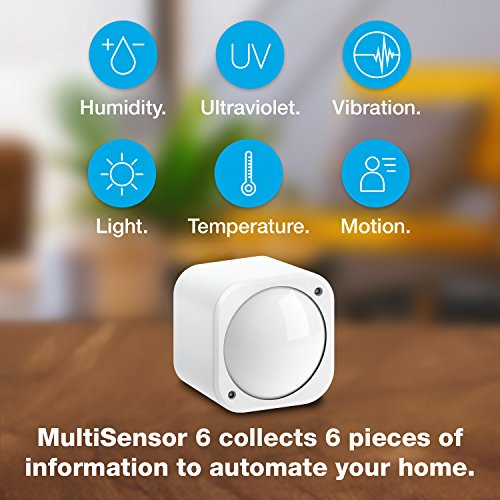 Aeotec Multisensor 6 with Battery, Z-Wave Plus 6-in-1 Motion, Temperature, Humidity, Light, UV, Vibration Sensor by Aeotec (Image #1)