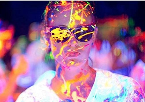5-Gallon Washable Neon Uv Glow Paint - Yellow by Paint Party Supplies (Image #2)