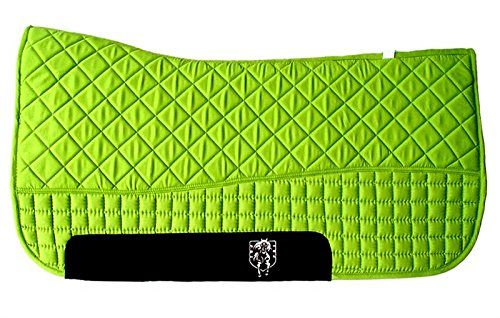 PRI 32″x32″ Western Saddle Pad Double-Back Saddle Blankets (Lime Green)