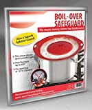 """Boil Over Safeguard - Silicone Lid Stops Pots and Pans from Messy Spillovers Fits 6"""" to 10"""" in Diameter"""