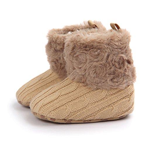 Zapatos para bebé de 0-18 meses, Auxma Snowboots Soft Crib Shoes Botas para niños pequeños Caqui